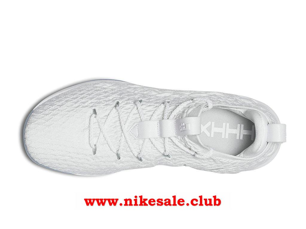 Chaussures BasketBall Nike LeBron 15 Low Homme Pas Cher Prix White Metallic Silver White AO1755_100 1803271466 Les Nike Magasins Discount