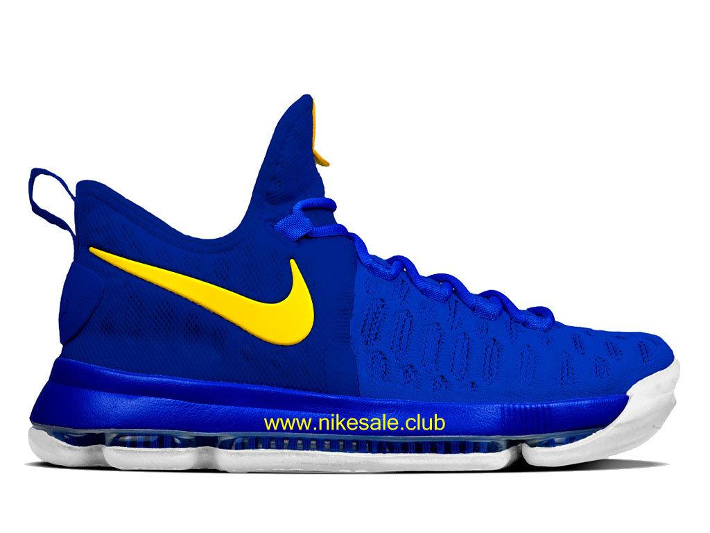 discount quite nice 100% high quality Chaussures De BasketBall Homme Nike KD 9 Prix Pas Cher Bleu/Jaune ...