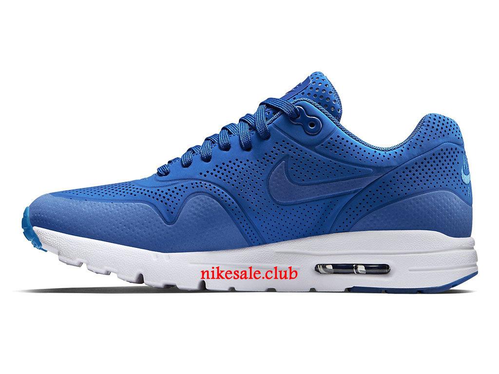 Chaussures De Running Nike Air Max 1 Ultra Moire Prix Pas Cher Pour Femme Bleu 704995 400 Les Nike Magasins Discount D´usine,Nike BasketBall Pas