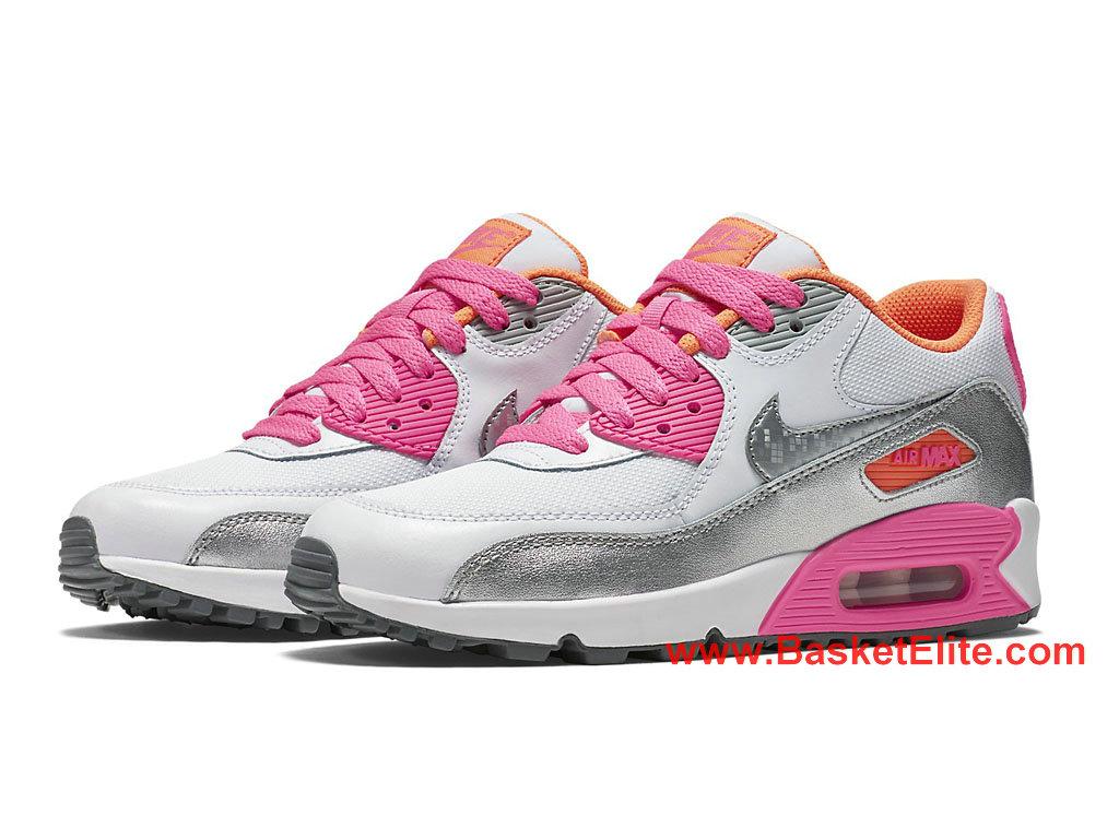 Chaussure Femme Nike Air Max 90 Pas Cher ArgentBlancRose 724855_101