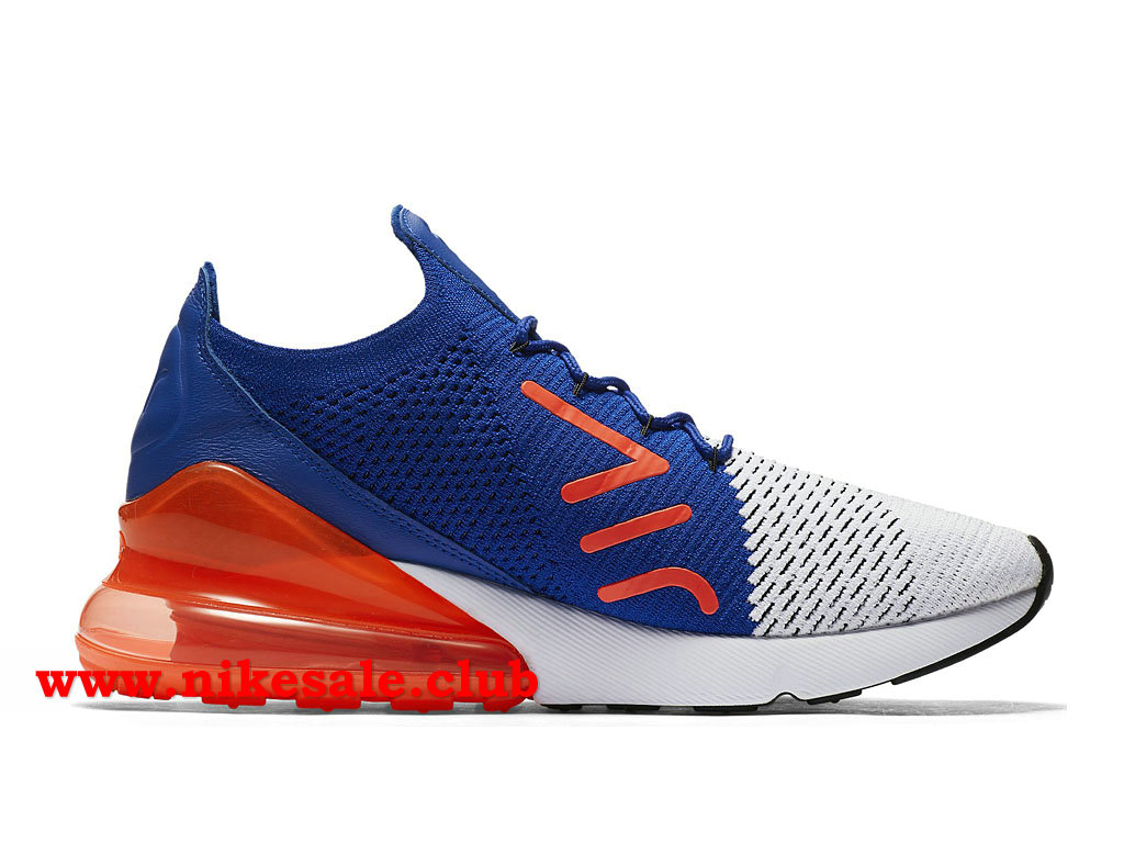 Chaussures Homme Nike Air Max 270 Flyknit Casual Prix Pas Cher BleuBlancNoirOrange AO1023_101 1803271486 Les Nike Magasins Discount D´usine,Nike
