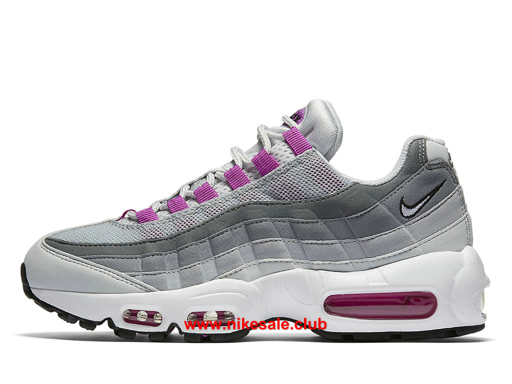 half off huge inventory best price Chaussures Nike Air Max 95 Prix Femme Pas Cher Gris/Pourpre/Blanc ...