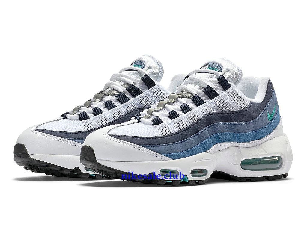 Nike Air Max 95 OG Prix Nike Sale Chaussures BasketBall Pas Cher Pour Femme BlancGrisBleu 307960 100, Les Nike Magasins Discount D´usine,Nike