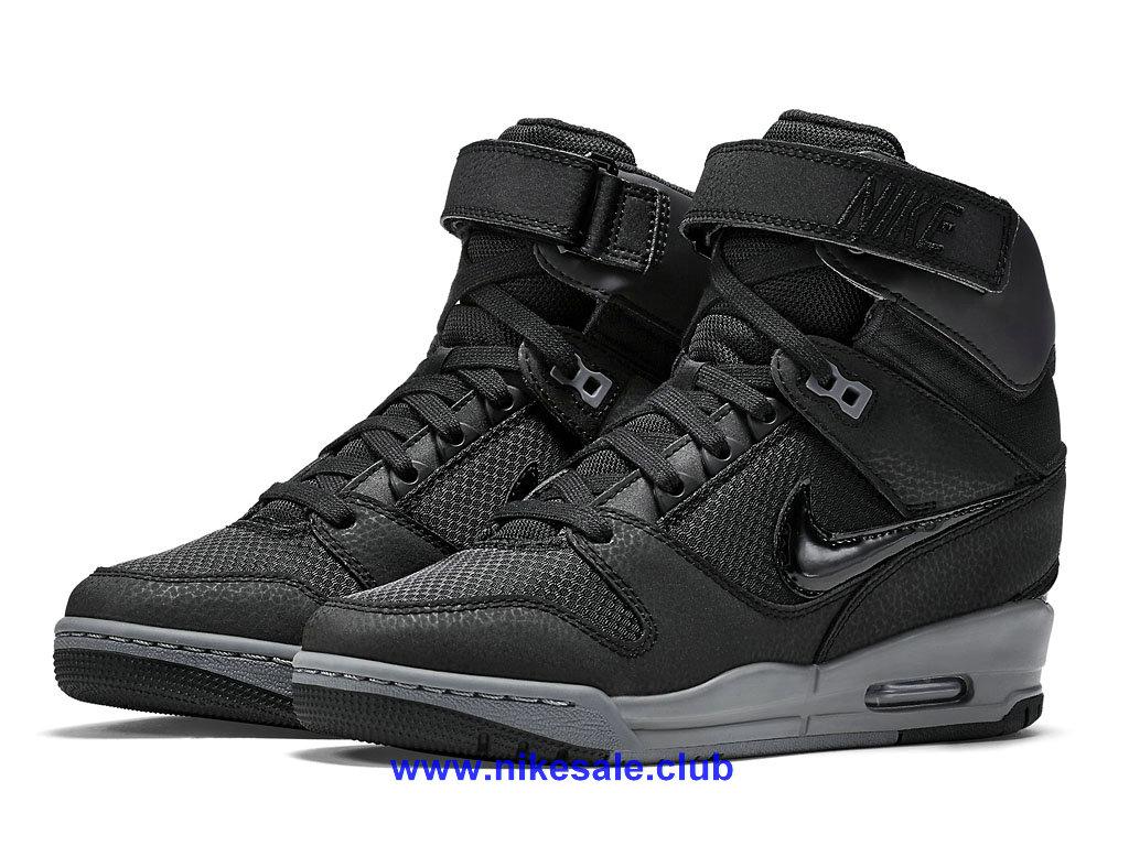 Nike Air Revolution Sky Hi Chaussures Pour FemmeFille NoirArgent 599410 017 Les Nike Magasins Discount D´usine,Nike BasketBall Pas Cher Site