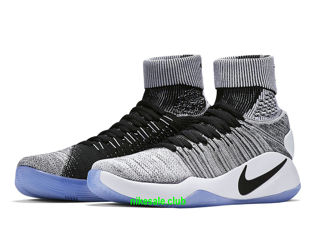 Nike Hyperdunk 2016 Flyknit Oreo Prix Chaussures De BasketBall Pas Cher Pour Homme GrisNoirBlanc 843390_010 Les Nike Magasins Discount